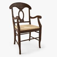 Pottery Barn Napoleon Rush Seat Chair