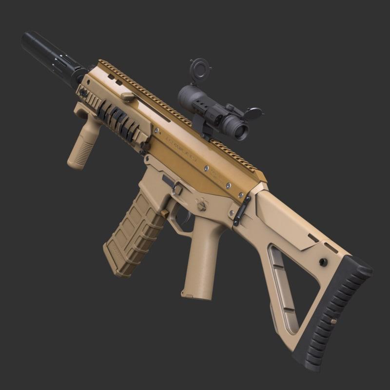 adaptive rifle acr 3d max