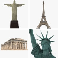 3d model of world landmark