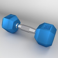 3d hex dumbbell