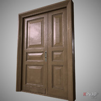 door wood wooden 3d dxf