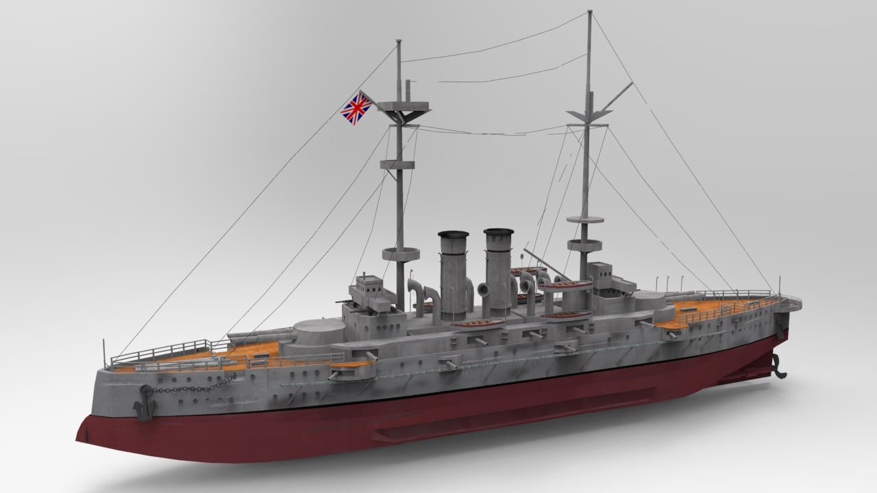 3d model hms goliath battleships