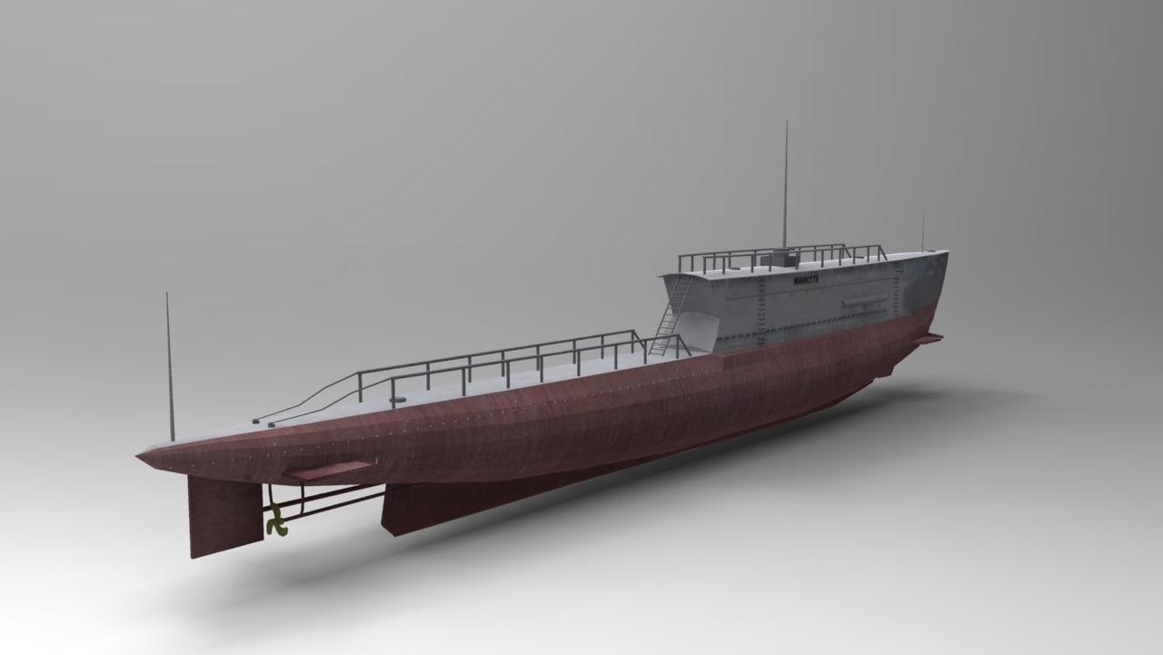 3ds max submarine