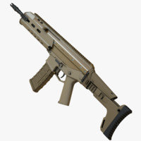 3d highpoly rifle acr