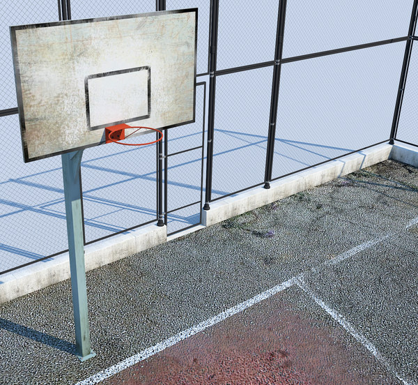 basketball court basket 3d model