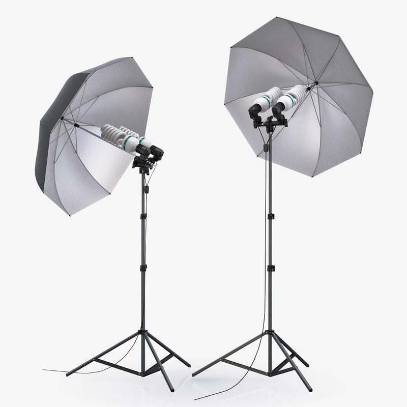 umbrella lighting scene max