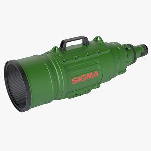 3d model photoreal camera lens sigma