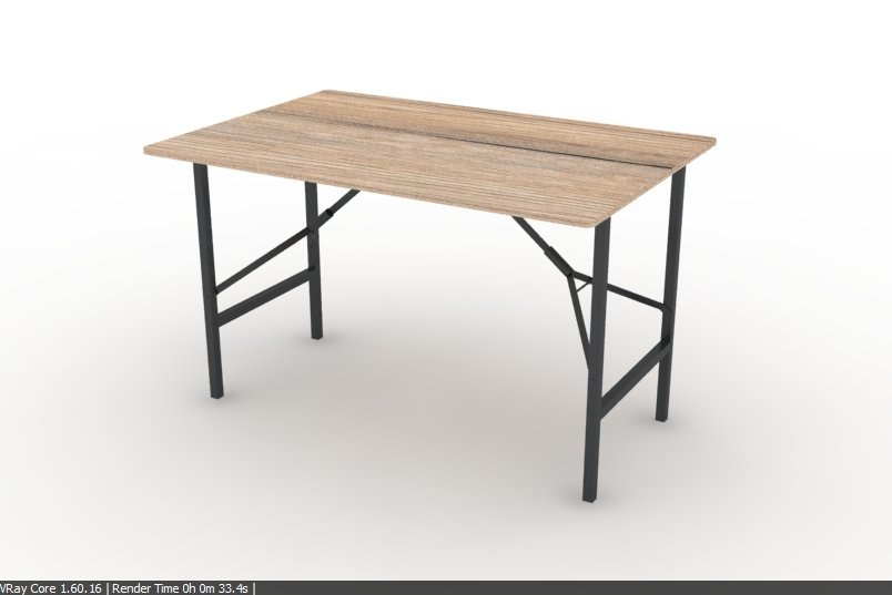 3d folding table real construction