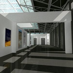 fine art gallery 3d model