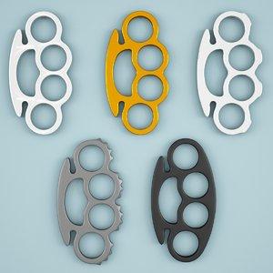 brass knuckles 3d max
