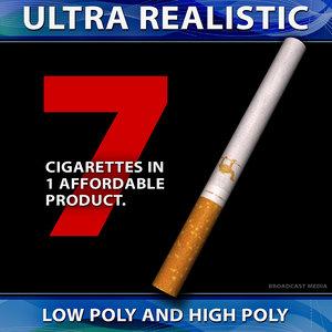 3d ashtray cigarettes model