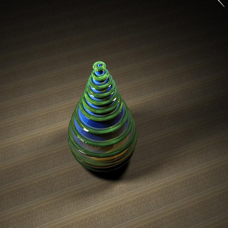 3d model blue drop
