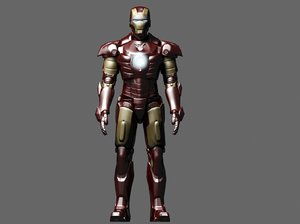 3d iron man suit