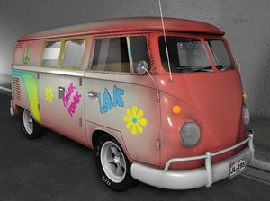 3d bus microbus old