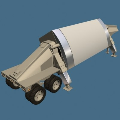 3d thaad radar model