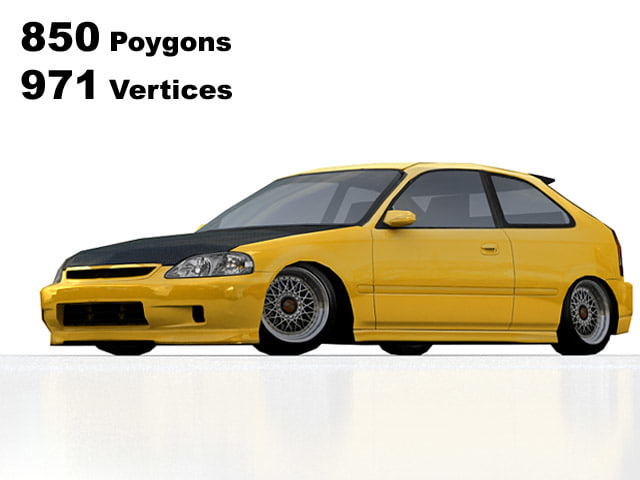 3ds max honda civic tuning