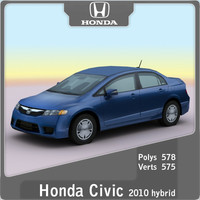 3ds max 2010 honda civic hybrid