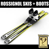 3ds max alpine rossignol skis boots