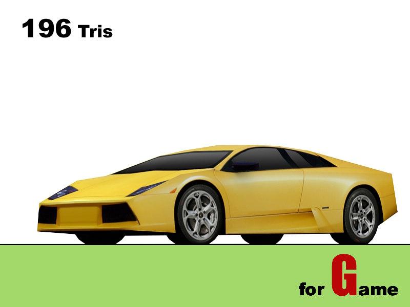 lamborghini murcielago cars 3d model