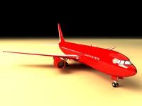 767 airbus 3d model