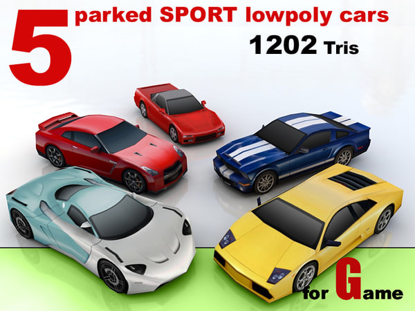 parked sport cars 5 max