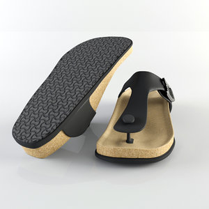 3d birkenstock slipper model