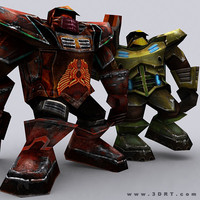 3DRT-Warbots-Brutes-characters-ver.1.0