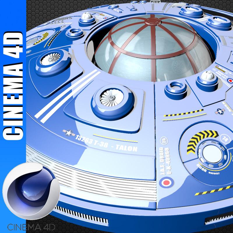 sci-fi ufo space ship 3d model