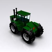 3d model green yellow harvesting