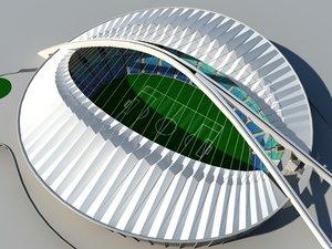 moses stadium durban 3d model
