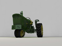 obj old style tractor