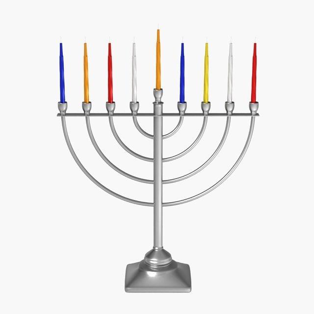 3ds max menorah candles