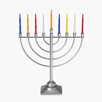 3ds max menorah candles