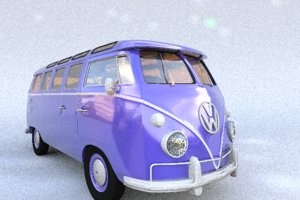hippie van 3d model