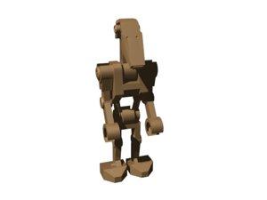 robot character 3d 3ds