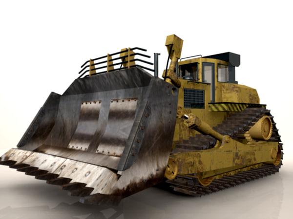 cat bulldozer 3d obj