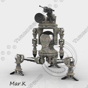 war robot scout 3d 3ds