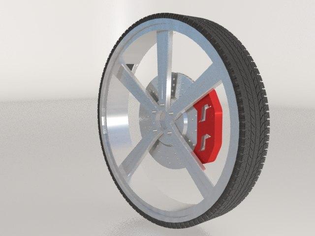 free wheel tire 3d model