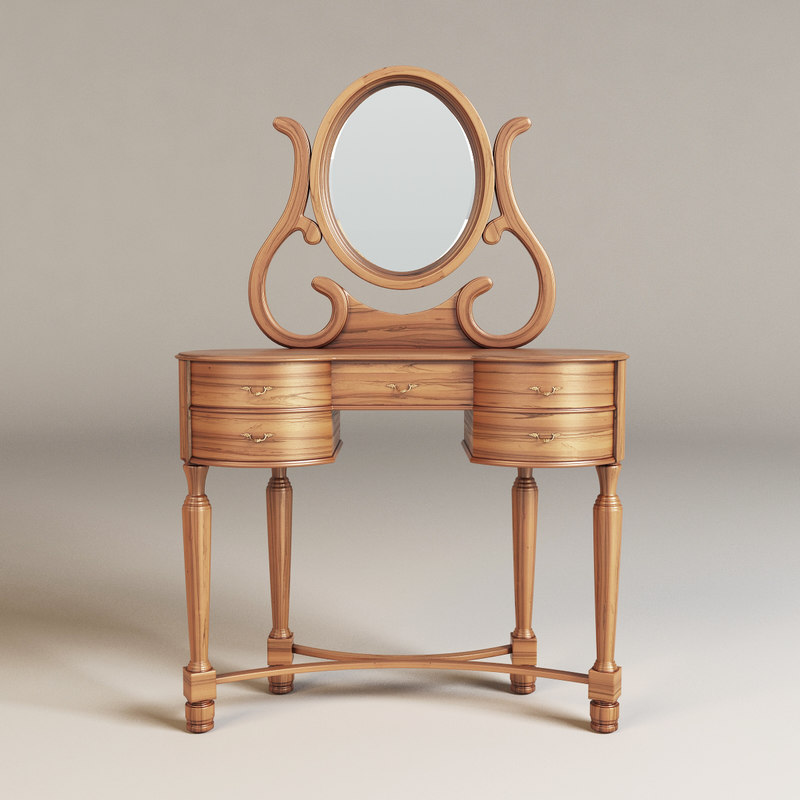 classic wood table 3d max