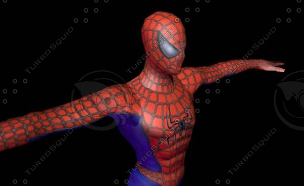 3d model cartoon spider man
