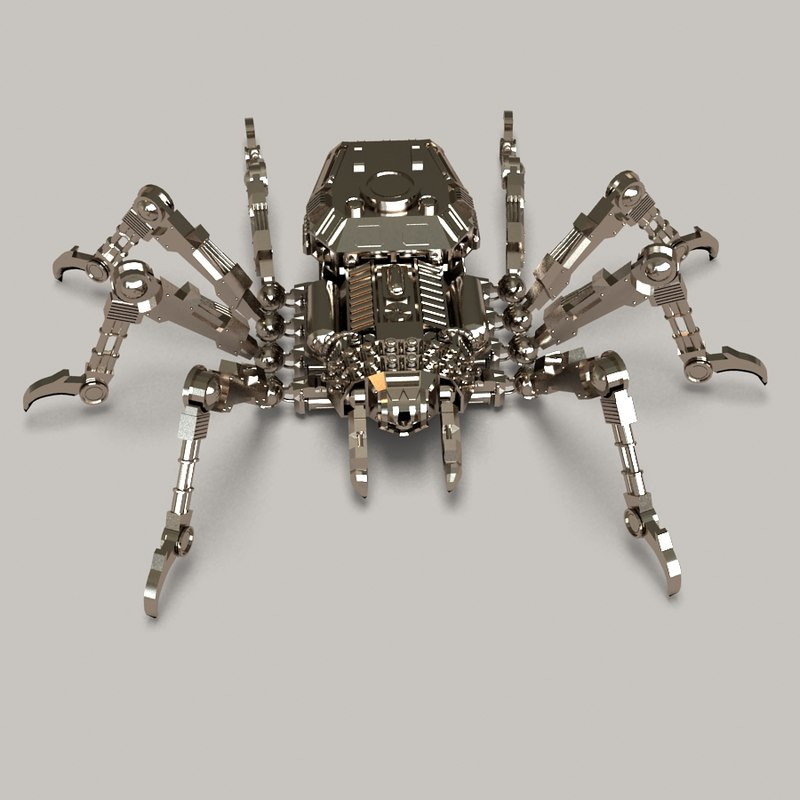 machine spider 3d max