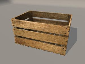 3d model fruit crate