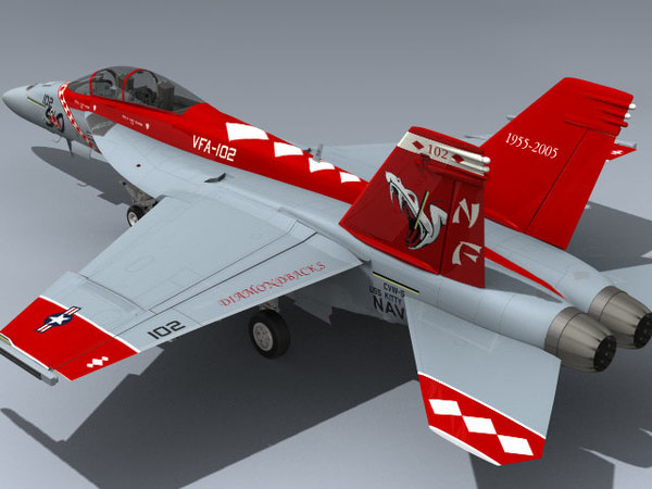 super hornet cag vfa-102 3d model