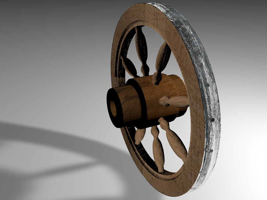 3d wheel carriage