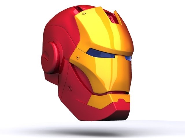 3d iron helmet model