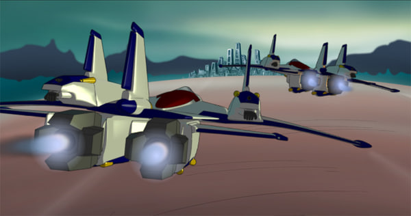 robotech plane 3d 3ds
