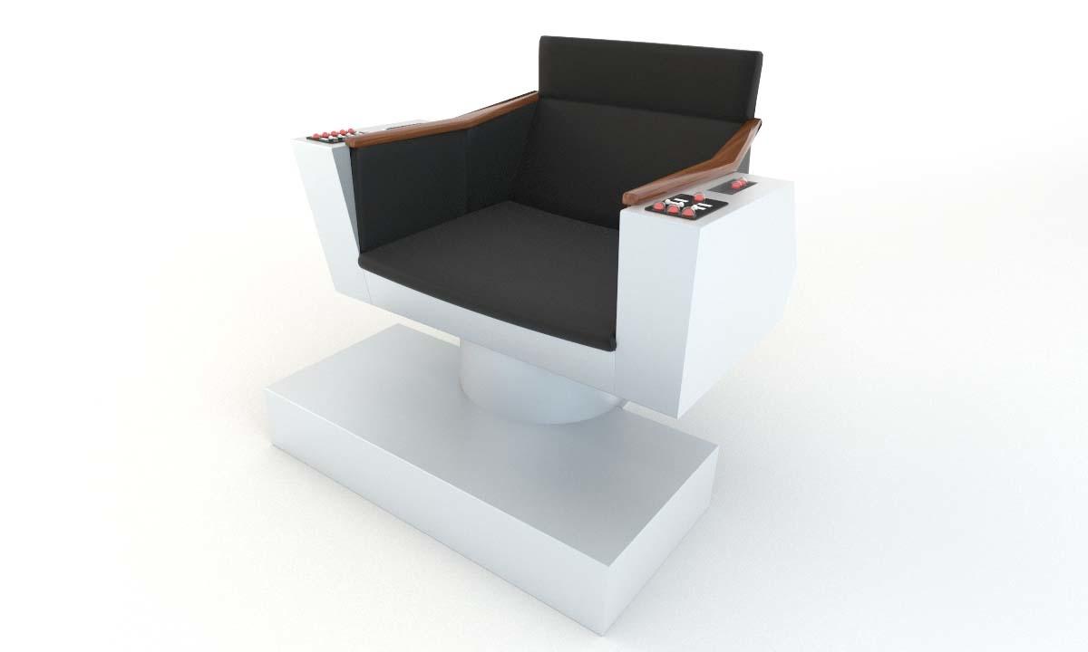 star captain chair 3d model