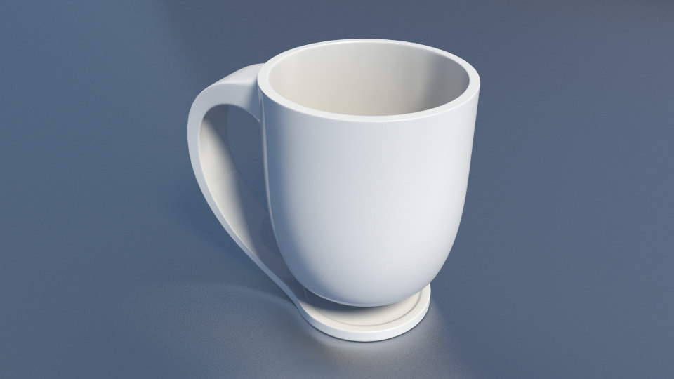 3d floating mug