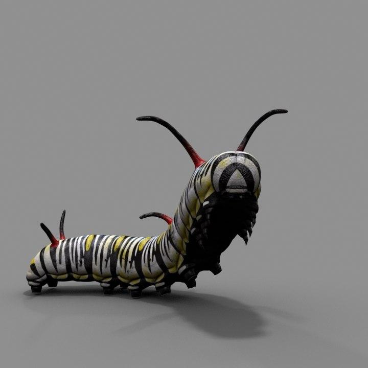 3d model worm