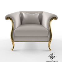 christopher guy montaigne armchair 3d model